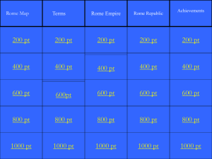 Rome Jeopardy PowerPoint - Kirkwood School District