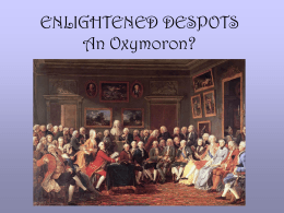 unit #5 : enlightened despots