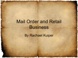 Mail Order and Retail Business by Rachael