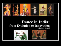 Dance in India: from Evolution to Innovation