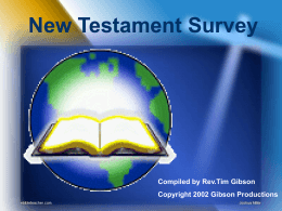 to the New Testament Survey