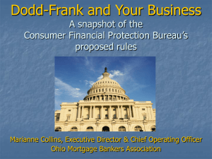 Dodd-Frank and You - Columbus Mortgage Bankers Association