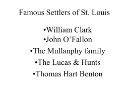 Famous Settlers of St. Louis