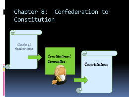 Articles of Confederation to Constitution PPT