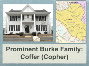 Prominent Burke Family: Coffer (Copher)