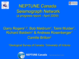 Seismograph Network Progress Report