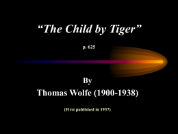 """The Child by Tiger"""