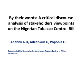 By their words: A critical discourse analysis of stakeholders