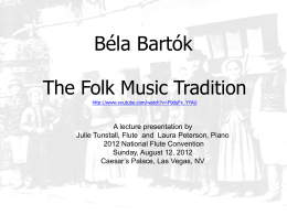 Bartók`s Folk Music Research