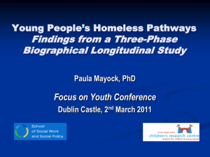 Young People`s Homeless Pathways