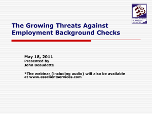"What is a ""Criminal Background Check""?"