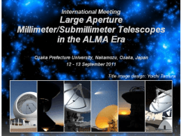 Large Aperture Millimeter/Submillimeter Telescopes in the ALMA Era