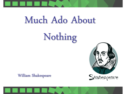 Much_Ado_character and summary