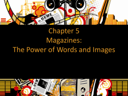 Chapter 5 Magazines: The Power of Words and Images