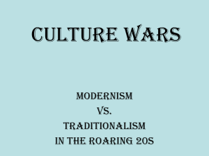 Culture Wars in the Roaring 20`s