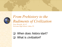 1. Prehistory to Civilization