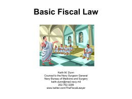 Basic Fiscal Law - American Society of Military Comptrollers