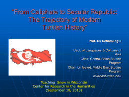 From Caliphate to Secular Republic