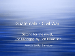 Guatemalan Civil War