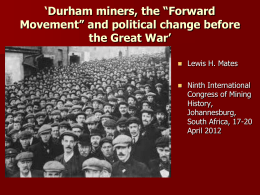 `Great Labour unrest` in the Durham coalfield