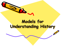 Models for Understanding History