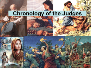 Power Point presentation for The Period of the Judges foregoing