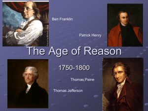 The Age of Reason - Randolph County Schools