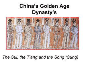 China`s Golden Age Dynasty`s