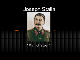 Joseph Stalin (Thompson) - Marlington Local Schools