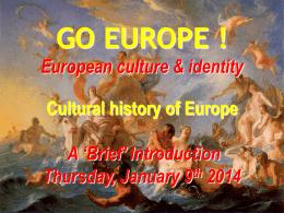 European History Thursday 9