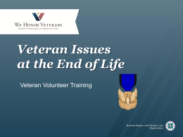 Veterans Issues at the End of Life