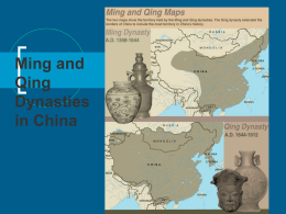 Ming and Qing Dynasties in China