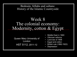 Middle Eastern Countryside in the Colonial Period