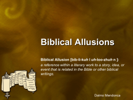 GOW Biblical Allusions PowerPoint