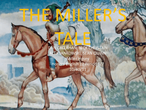 THE MILLER`S TALE - Ms. Miller Hosey