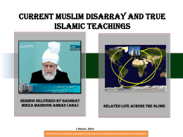 English PowerPoint - Ahmadiyya Muslim Community