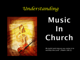 Music in the Church - Twin Valleys Presbytery