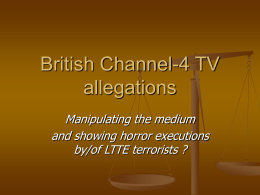 Channel-4 TV allegations against SL Army - dh