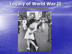 Legacy of World War II - Streetsboro City Schools