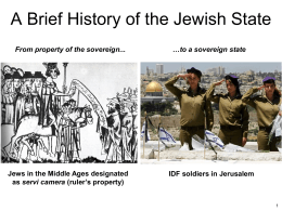 Powerpoint Presentation - A Brief History of the Jewish