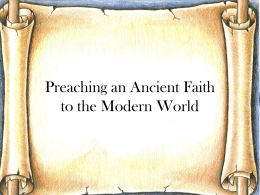 Gospel preaching: Ways to communicate the ancient faith