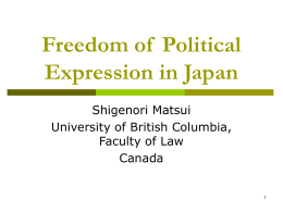 Freedom of Political Expression in Japan