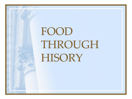 The History of Food - Utah Education Network