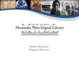 Overview of the Mountain West Digital Library