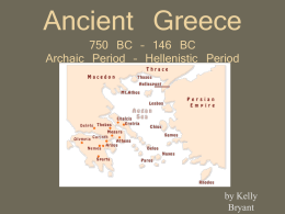 Ancient Greece 750 BC - USF College of Education