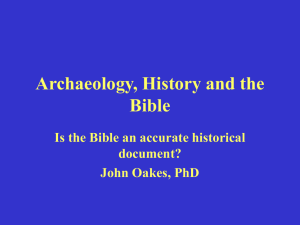 History, Archaeology and the Bible 2.17 Mb