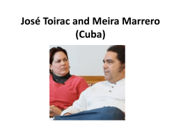 José Toirac, Meira Marrero, & Cuba - USF Institute for Research in Art