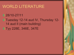 World Literature II - Matskut