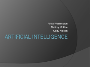 PowerPoint Presentation - History of Artificial Intelligence