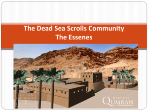 Understanding the Dead Sea Scroll Community